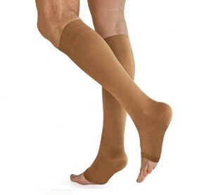 Чулки компрессионные Польза 3001 ниже колена без мыска (1 класс) фото 4