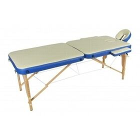 Массажный стол складной на деревянной раме JF-AY01 2-х  секционный фото 1