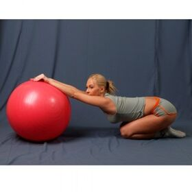 Мяч гимнастический L-0165B 65 см гладкий фото 2