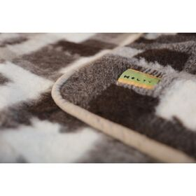 Плед с рисунком Лоскуток из овечьей шерсти, 140х205 см фото 3