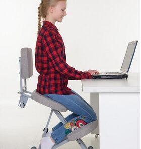 Коленный стул Олимп с ремнем безопасности фото 5